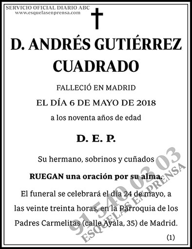 Andrés Guitérrez Cuadrado